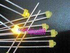 100pcs New 18mm Yellow Diffused Led 1000mcd Leds Light Resistors For 12v