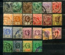 1921-33 Malaya Malaysia Straits Settlements KGV 1c to $5 (22V)  CV  Rm 405