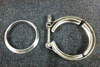"""V-Band Schelle + Ring 2,5"""" 63,5mm 63 64 Turbolader Gt30 Gt35 Gt28 Garrett T3 T4"""