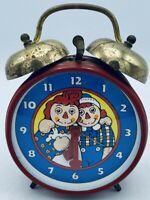 1971 Raggedy Ann & Andy Windup Alarm Clock Bobbs-Merrill Working Made in Germany