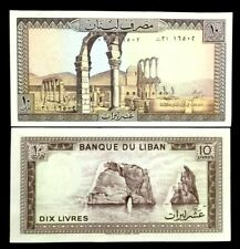 Lebanon 10 Livres Banknote World Paper Money UNC Currency Bill Note