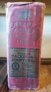 1938 KELLY'S POST OFFICE LONDON DIRECTORY - HUGE VOLUME COMPLETE KELLYS