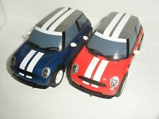 Scalextric - Pair of BMW Mini Cooper (Blue & Red) - Nr. Mint