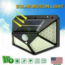100 LED Solar Power Light PIR Motion Sensor Outdoor Garden Wall Yard Lamp