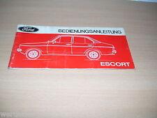Handbuch Ford Escort Bedienungsanleitung 1975 P/VIK-41 XI/75-6 Betriebsanleitung