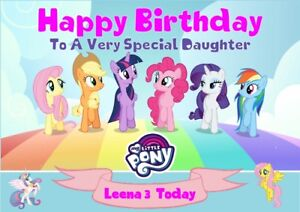 Personalised birthday card My Little Pony any name/age/relation
