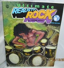 ultimate realistic rock : drum method book with cd learn to play the drums book