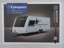 Compass Touring Caravan UK Price List & Spec. Brochure 2015- Corona, Rallye