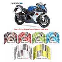 Motorcycle Rim Stripes Wheel Decals Tape Stickers For SUZUKI GSXR 600/750/1000