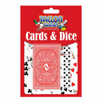 CARDS GAME & DICE SET  TRAVEL PLAYING CARDS PACK 5 DICES POKER RUMMY BLACKJACK
