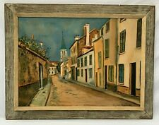 VINTAGE MAURICE UTRILLO REAL PAINTING LOOK LITHOGRAPH RUE A STAINS - PROVENANCE