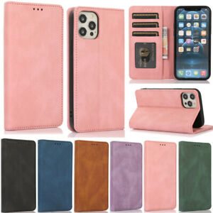 Magnetic Wallet Leather Flip Case Cover For iPhone 12 Pro 11 XR XS Max 7 8 Plus