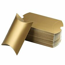 vLoveLife 5 X 3.5 Gold Cute Pillow Kraft Paper Gift Boxes Wedding Party Box #31G