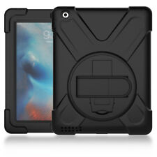 PC+Silicone Rugged Shockproof Protective Case with Shoulder Strap for iPad 2/3/4