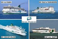 SOUVENIR FRIDGE MAGNET - FERRY LINE - IRISH FERRIES IRELAND