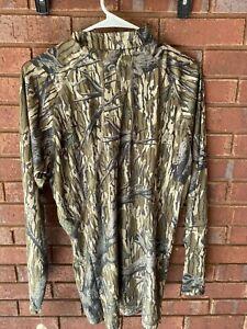 NWT Mossy Oak Performance Long Sleeve Camo Tech 1/4 Zip Shirt for Men Medium