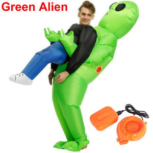 Adult Inflatable Fancy Funny Dress Costume Halloween Alien Blowup Party Fat Suit
