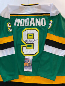 Mike Modano Authentic Signed Green Pro Style Jersey Autographed JSA