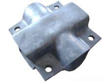 Klemmschale für Pkw-Anhänger (Achse Vierkant 60mm - Zugrohr Rund 70mm)