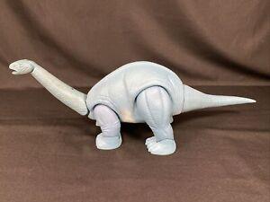 "1987 Playskool Definitely Dinosaurs APATOSAURUS Dinosaur Blue Toy 24"" Long"