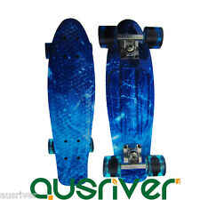 "22"" Street Retro Style Skateboard Mini Fish Board Teenager Sport Gift Starry Sky"