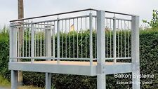 Balkon Bausatz 3 m x 2,5 m Fertigbalkon Anbaubalkon Stahl Geländer feuerverzinkt