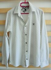 CHEMISE BLANCHE QUADRILLAGE GRIS. OXBOW. TAILLE M / 39 / 40