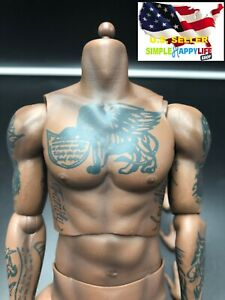 1/6 LeBron James Tattoo Male African Figure Body w/ hands for Enterbay ❶USA❶