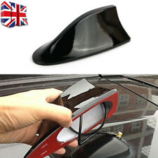Black Universal Auto Car Roof Radio AM/FM Signal Shark Fin Aerial Antenna UK A