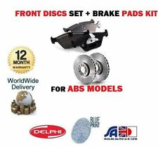 FOR NISSAN ALMERA 1.4 1.6 2.0D WITH ABS 1995--> FRONT BRAKE DISCS SET + PADS KIT