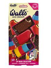 Walls Ice Cream Lolly Flavour Lip Balms Lips Smacker Balm Gift Set of 3