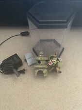 New listing Top Fin One Gallon Fish Tank With Led Light, Filter, And Two Decoration Pieces.