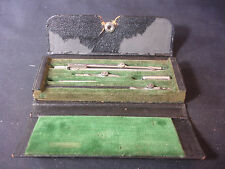 Old Vtg F Weber Co Philadelphia #251-4 Drafting Draft Tool Set Made In Germany