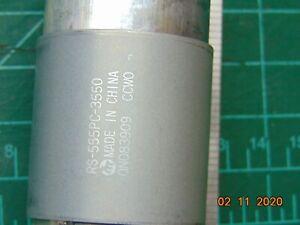 "Mabuchi RS-555PC-3550 High Torque 12 VDC Motor 4800 RPM  1/8"" Dia. Shaft"