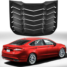 Rear Window Louver Cover Sun Shade Vent ABS For 2013~2018 Ford Fusion