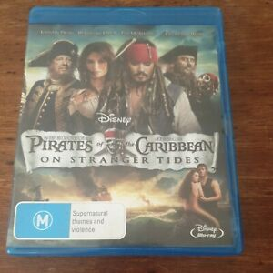 Pirate's of the Caribbean 4 On Stranger Tides Blu-Ray LIKE NEW! FREE POST