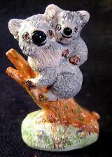 BASIL MATTHEWS STUDIOS FIGURINE GRAY MOTHER KOALA BEAR & BABY ARTIST SIGNED UK