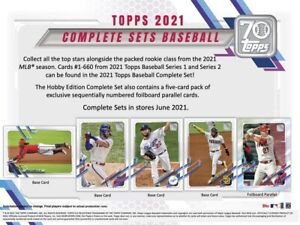 PRE-ORDER 2021 Topps Complete Baseball MLB Set Hobby Edition Factory Sealed Box