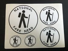 NATIONAL PARK NERD Decal Set - White Vinyl with Black - Sticker