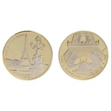Golden Alloy Paris Tower Building Collection Arts Gifts Commemorative Coin