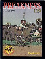1994 PREAKNESS STAKES HORSE RACING PROGRAM - PIMLICO RACE COURSE -TABASCO CAT!!
