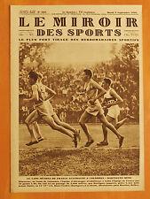 Le Miroir des Sports 502 du 3/9/1929-5000 m France-Allemagne.Dartigues-Diechmann