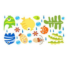 Beauty Sea Fish Bathroom Home Decor Wall Decal Accessories Fish Sticker Bubble