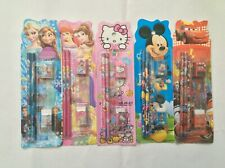 kids stationary set princess cars mickey party favour 10 for £9.98