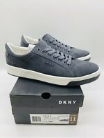 DKNY Men's Samson Lace Up Sneakers Grey Leather US 11M EUR  44.5