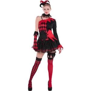 Jester Halloween Costume Jesterina Costume Evil Circus Clown Fancy Dress Fun