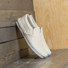 Vans Classic Slip On Moto Leather Birch White Blanc De Blanc Mens Size 7 NIB