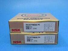 Nsk 7012ctynsulp4 Abec 7 Super Precision Spindle Bearings Matched Set Of Two