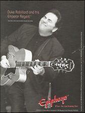 Duke Robillard 1996 Epiphone Emperor Regent Guitar ad 8 x 11 advertisement print