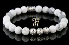 Howlite Bracelet Pearl Bracelet Silver Beads Buddha White Matt 8mm
